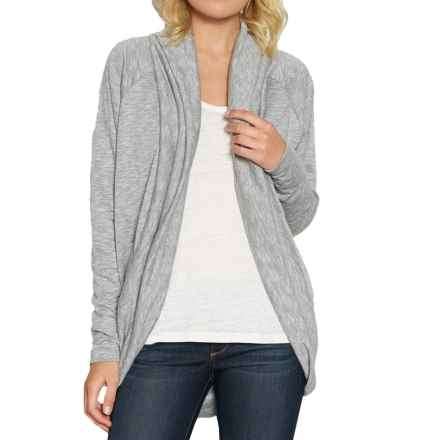 Threads 4 Thought Open-Front Cardigan Sweater (For Women) in Heather Steel - Closeouts
