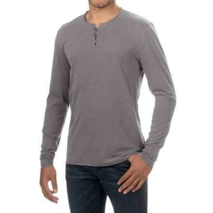 Threads 4 Thought Pigment-Dyed Henley Shirt - Organic Cotton, Long Sleeve (For Men) in Periscope - Closeouts