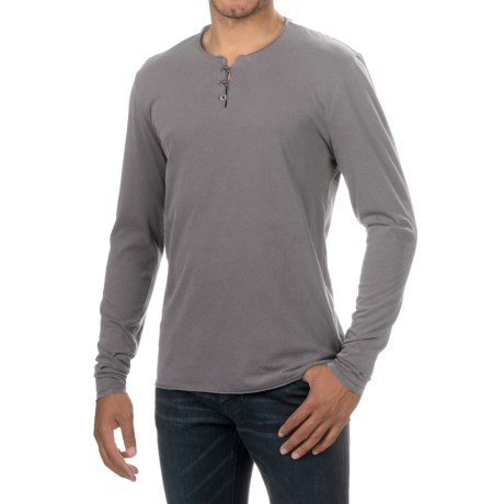 Threads 4 Thought Pigment-Dyed Henley Shirt - Organic Cotton, Long Sleeve (For Men) in Periscope