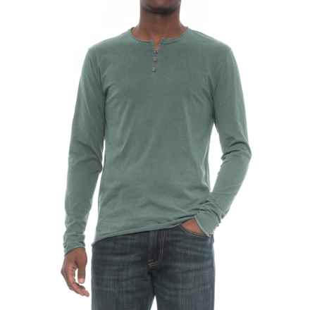 Threads 4 Thought Pigment-Dyed Henley Shirt - Organic Cotton, Long Sleeve (For Men) in Rosin - Closeouts