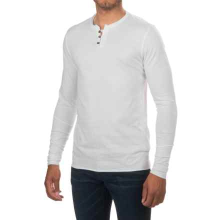 Threads 4 Thought Pigment-Dyed Henley Shirt - Organic Cotton, Long Sleeve (For Men) in White - Closeouts