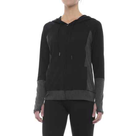 Threads 4 Thought Pisces Hoodie - Full Zip (For Women) in Jet Black - Closeouts