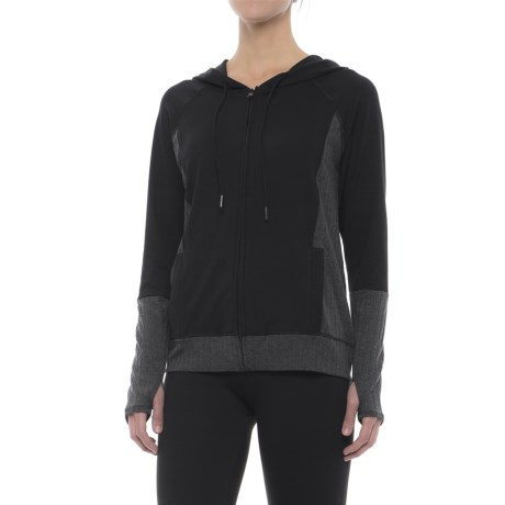 Threads 4 Thought Pisces Hoodie - Full Zip (For Women) in Jet Black