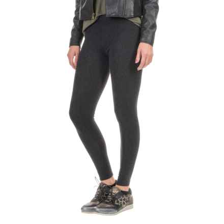 Threads 4 Thought Printed Fleece Leggings (For Women) in Wildcat Dark Navy - Closeouts