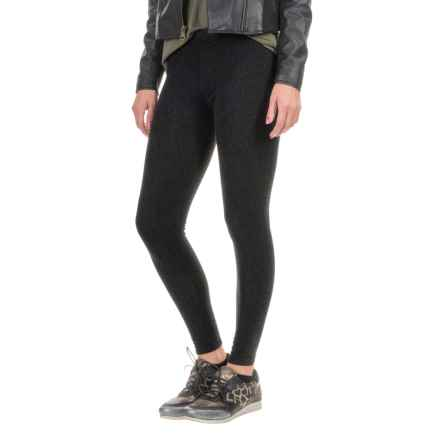 Threads 4 Thought Printed Fleece Leggings (For Women) in Wildcat Dark Pewter - Closeouts