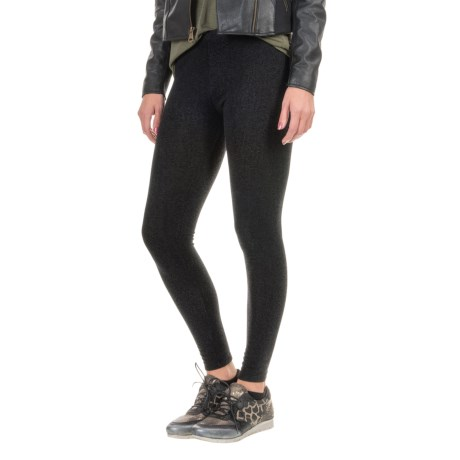 Threads 4 Thought Printed Fleece Leggings (For Women)