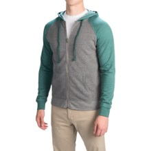 Threads 4 Thought Raglan Hoodie - Organic Cotton-Recycled Polyester (For Men) in Heather Grey/Silver Pine - Closeouts