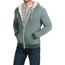 Threads 4 Thought Sherpa-Lined Thermal Hoodie - Organic Cotton, Zip Front (For Men) in Evergreen - Closeouts