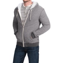 Threads 4 Thought Sherpa-Lined Thermal Hoodie - Organic Cotton, Zip Front (For Men) in Pewter - Closeouts