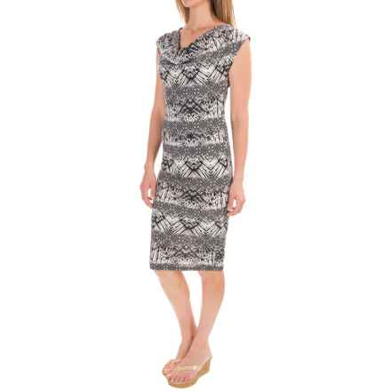 Threads 4 Thought Sumy Midi Dress - Modal (For Women) in Black - Closeouts