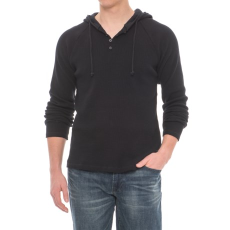Threads 4 Thought Tommy Thermal Hoodie - Organic Cotton (For Men) in Black