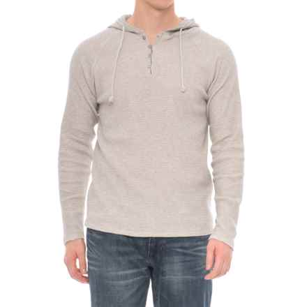 Threads 4 Thought Tommy Thermal Hoodie - Organic Cotton (For Men) in Heather Grey - Closeouts