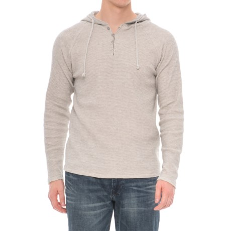 Threads 4 Thought Tommy Thermal Hoodie - Organic Cotton (For Men) in Heather Grey