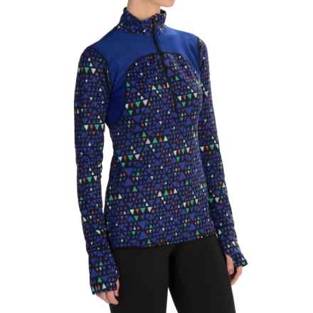 Threads 4 Thought Topanga Shirt - Zip Neck, Long Sleeve (For Women) in Neptune Combo - Closeouts