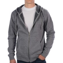 Threads 4 Thought Tri-Blend Fleece Hoodie - Full Zip (For Men) in Heather Grey - Closeouts