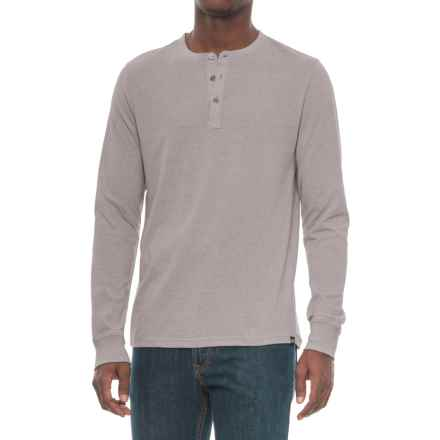 Threads 4 Thought Tri-Blend Henley Shirt - Long Sleeve (For Men) in Ashes Of Rose - Closeouts