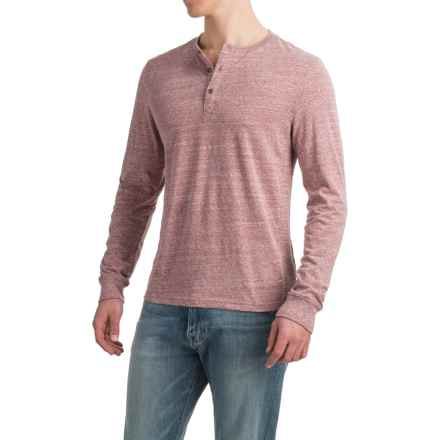 Threads 4 Thought Tri-Blend Henley Shirt - Long Sleeve (For Men) in Brick Red - Closeouts