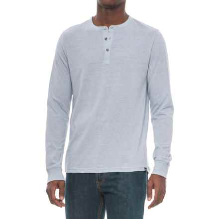 Threads 4 Thought Tri-Blend Henley Shirt - Long Sleeve (For Men) in Greydawn - Closeouts