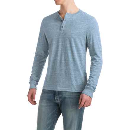 Threads 4 Thought Tri-Blend Henley Shirt - Long Sleeve (For Men) in Porcelain - Closeouts