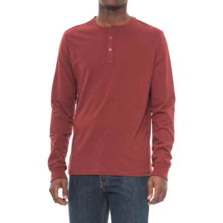 Threads 4 Thought Tri-Blend Henley Shirt - Long Sleeve (For Men) in Syrah - Closeouts