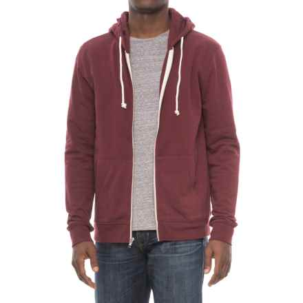 Threads 4 Thought Tri-Blend Zip Hoodie (For Men) in Cabernet - Closeouts