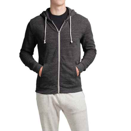 Threads 4 Thought Triblend Full-Zip Hoodie (For Men) in Heather Black - Closeouts