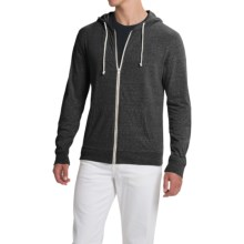 Threads 4 Thought Triblend Jersey Hoodie - Full Zip (For Men) in Heather Black - Closeouts