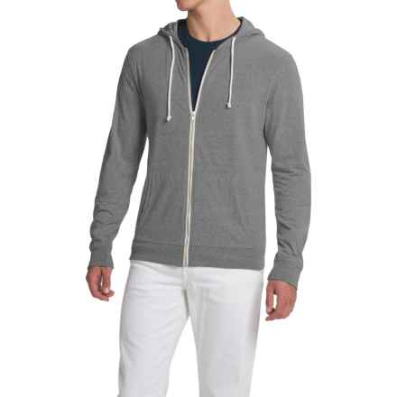 Threads 4 Thought Triblend Jersey Hoodie - Full Zip (For Men) in Heather Grey - Closeouts