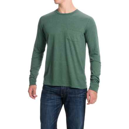 Threads 4 Thought Triblend Pocket T-Shirt - Long Sleeve (For Men) in Evergreen - Closeouts