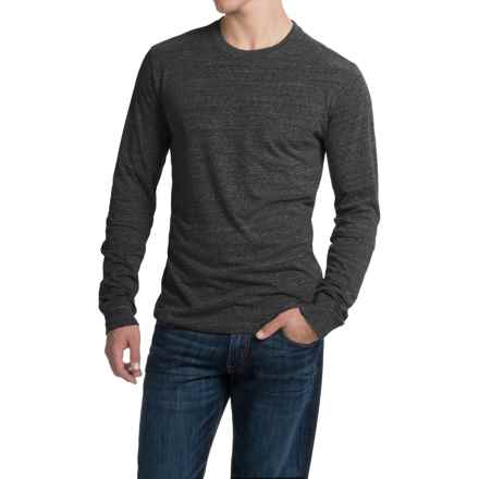 Threads 4 Thought Triblend Pocket T-Shirt - Long Sleeve (For Men) in Heather Black - Closeouts