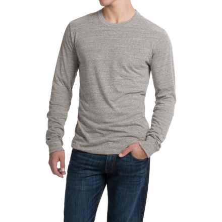 Threads 4 Thought Triblend Pocket T-Shirt - Long Sleeve (For Men) in Heather Grey - Closeouts