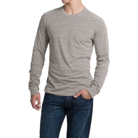 Threads 4 Thought Triblend Pocket T-Shirt - Long Sleeve (For Men) in Heather Grey