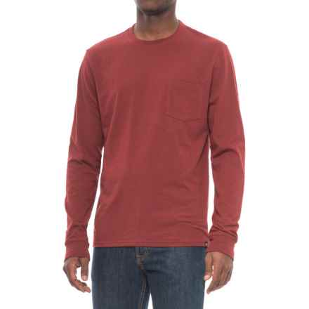 Threads 4 Thought Triblend Pocket T-Shirt - Long Sleeve (For Men) in Syrah - Closeouts
