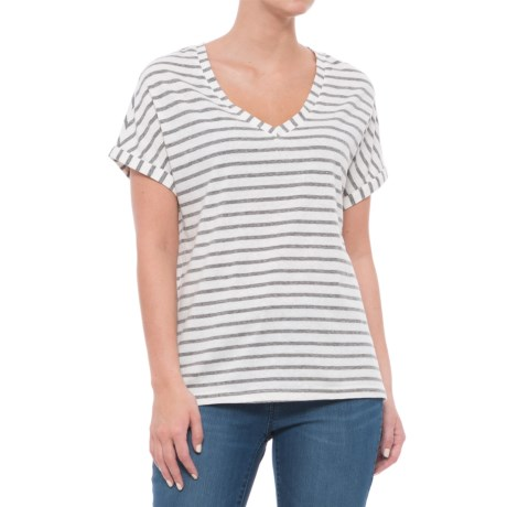 Threads 4 Thought Vintage Wash Striped T-Shirt - Short Sleeve (For Women) in Black