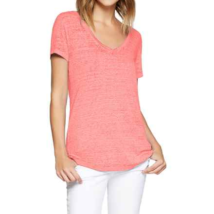 Threads 4 Thought Vintage Wash V-Neck T-Shirt - Organic Cotton, Short Sleeve (For Women) in Coral Haze - Closeouts