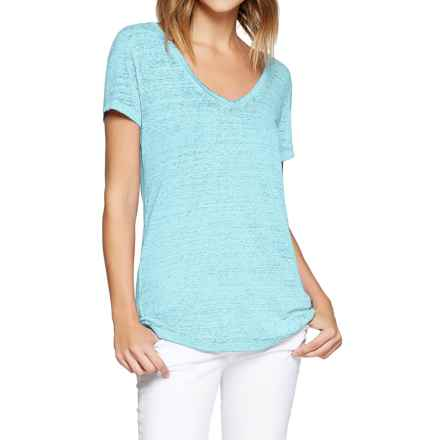 Threads 4 Thought Vintage Wash V-Neck T-Shirt - Organic Cotton, Short Sleeve (For Women) in Icy Teal - Closeouts