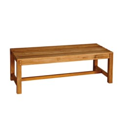 Three Birds Casual Backless Bench - 4', Premium Teak in Natural
