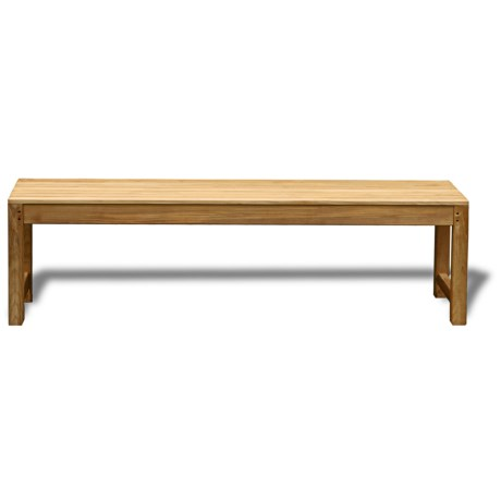 Three Birds Casual Charleston Teak Backless Bench - 5' in Natural