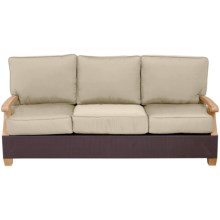 Three Birds Casual Ciera Three-Seated Sofa in Natural - Closeouts