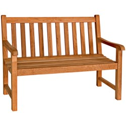Three Birds Casual Classic Teak Garden Bench - 4' in Teak