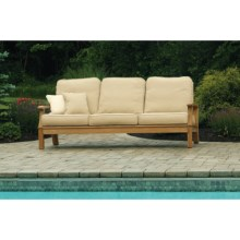 Three Birds Casual Monterey Deep Seating Teak Sofa in Natural - Closeouts