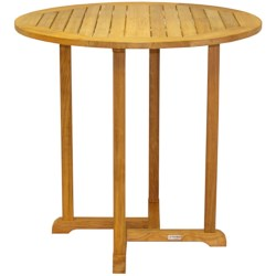 "Three Birds Casual Oxford Round Bar Table - Teak Wood, 42"" in Natural"