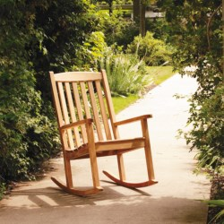Three Birds Casual Rocking Chair - Premium Teak in Natural