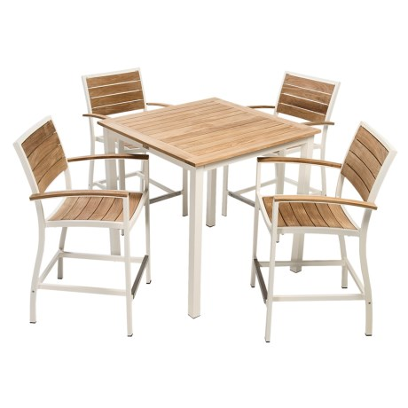 Three Birds Casual Soho Counter Height Table with 4 Soho Armchairs 5 Piece Set