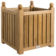 Three Birds Casual Teak Flower Box - Medium in Natural - Overstock