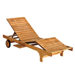 Three Birds Casual Teak Lounger Chair with Cushions in Natural