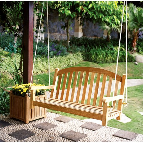Three Birds Casual Victoria 4' Premium TeakGarden Swing in Natural