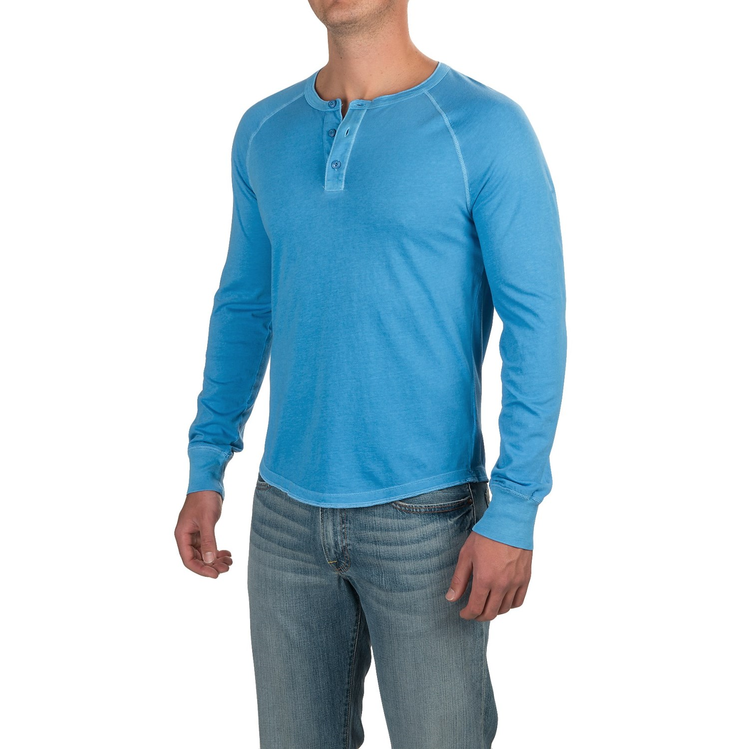 Three button henley shirt for men save 65 for Long sleeve henley shirts for men