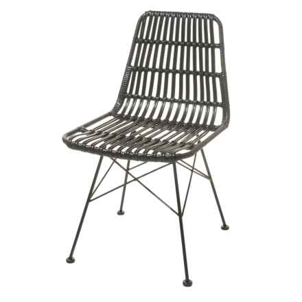 Exceptionnel Three Hands Metal And Plastic Chair In Black   Closeouts