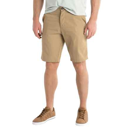 Three-Pocket Button-Fly Woven Shorts (For Men) in Tan - 2nds